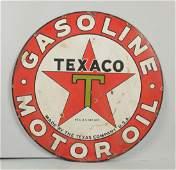 Texaco (black -T) Gasoline Motor Oil Sign.