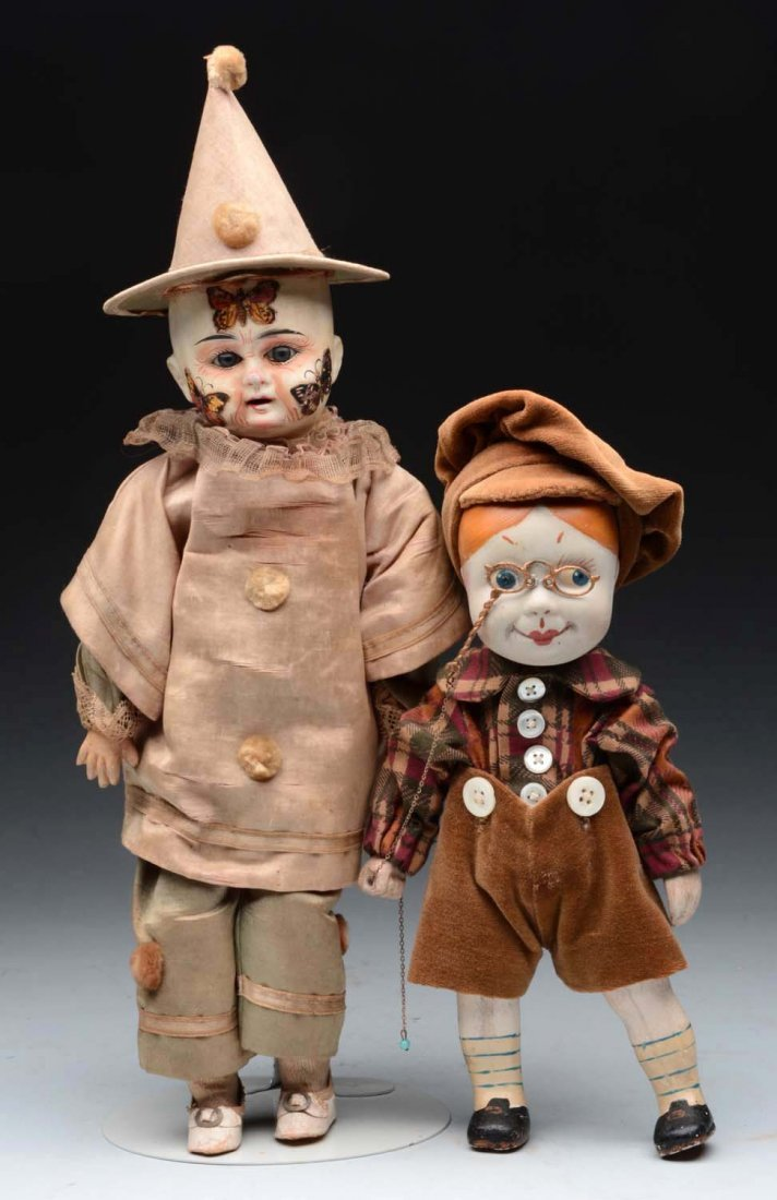 Lot Of 2: French Dolls.