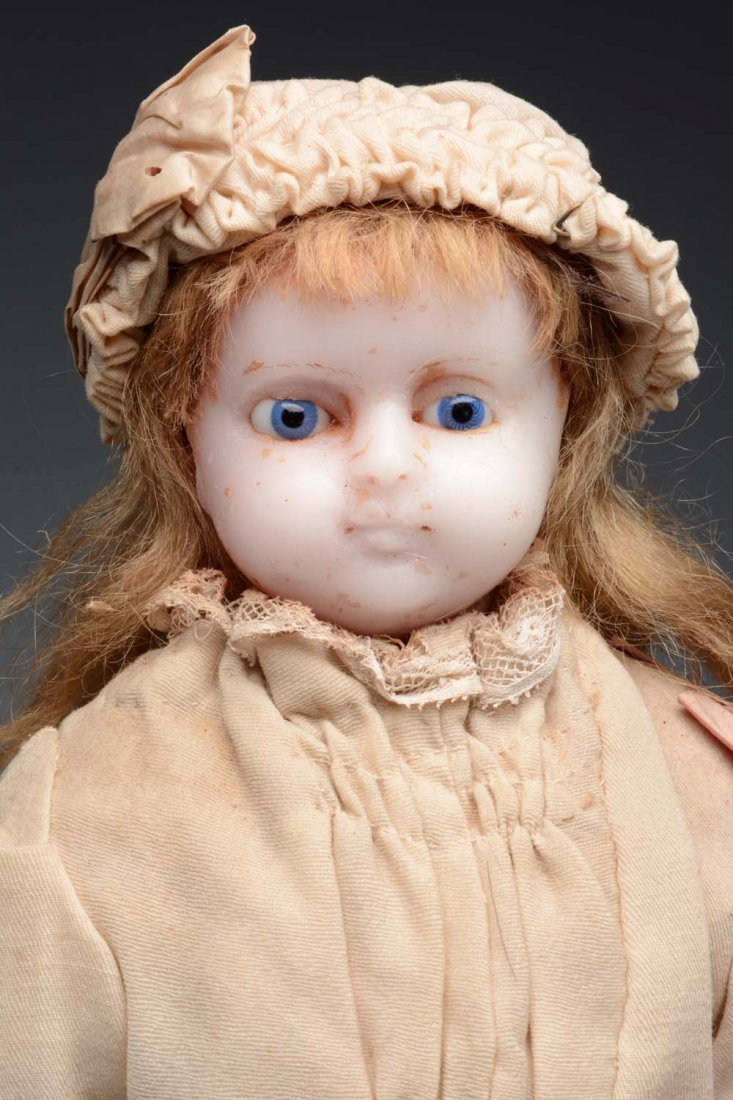 English Poured Wax Child Doll. - 2