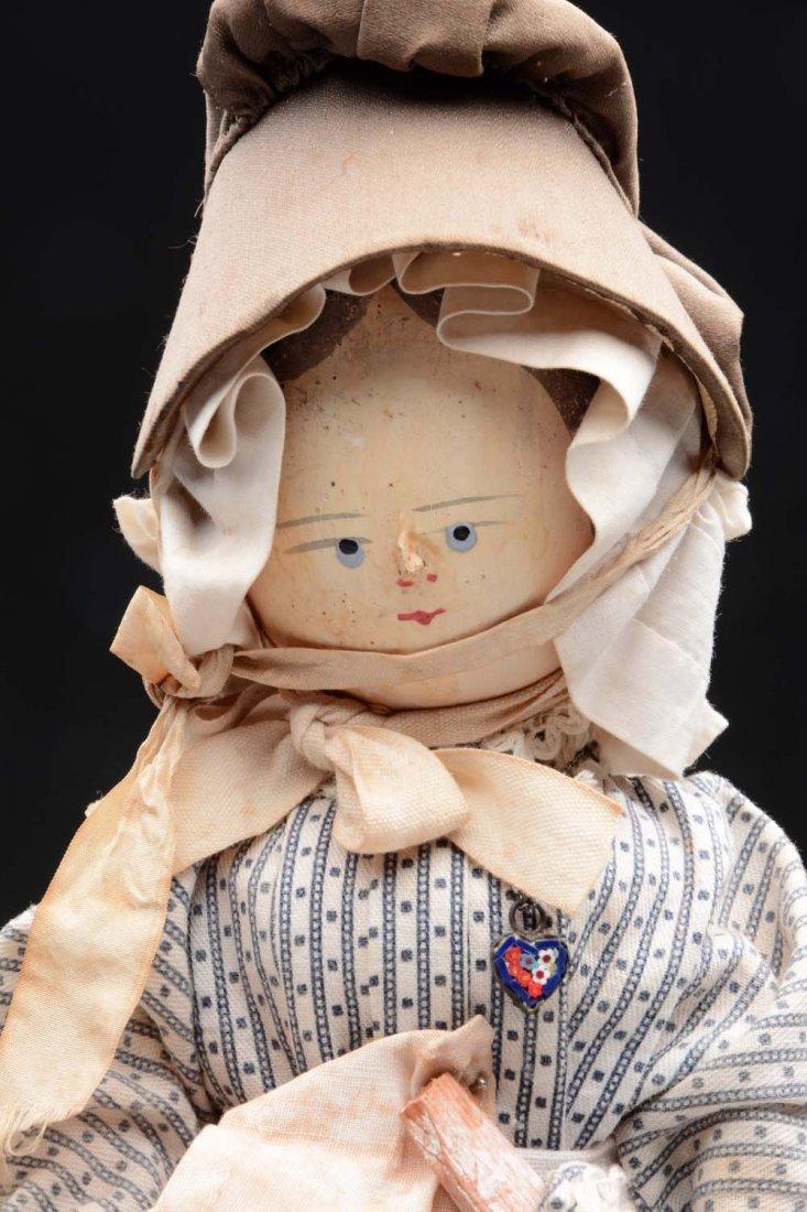 Lot of 2: Peg Wood Dolls. - 2