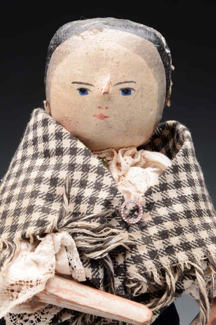 Lot of 2: Peg Wood Dolls. - 3