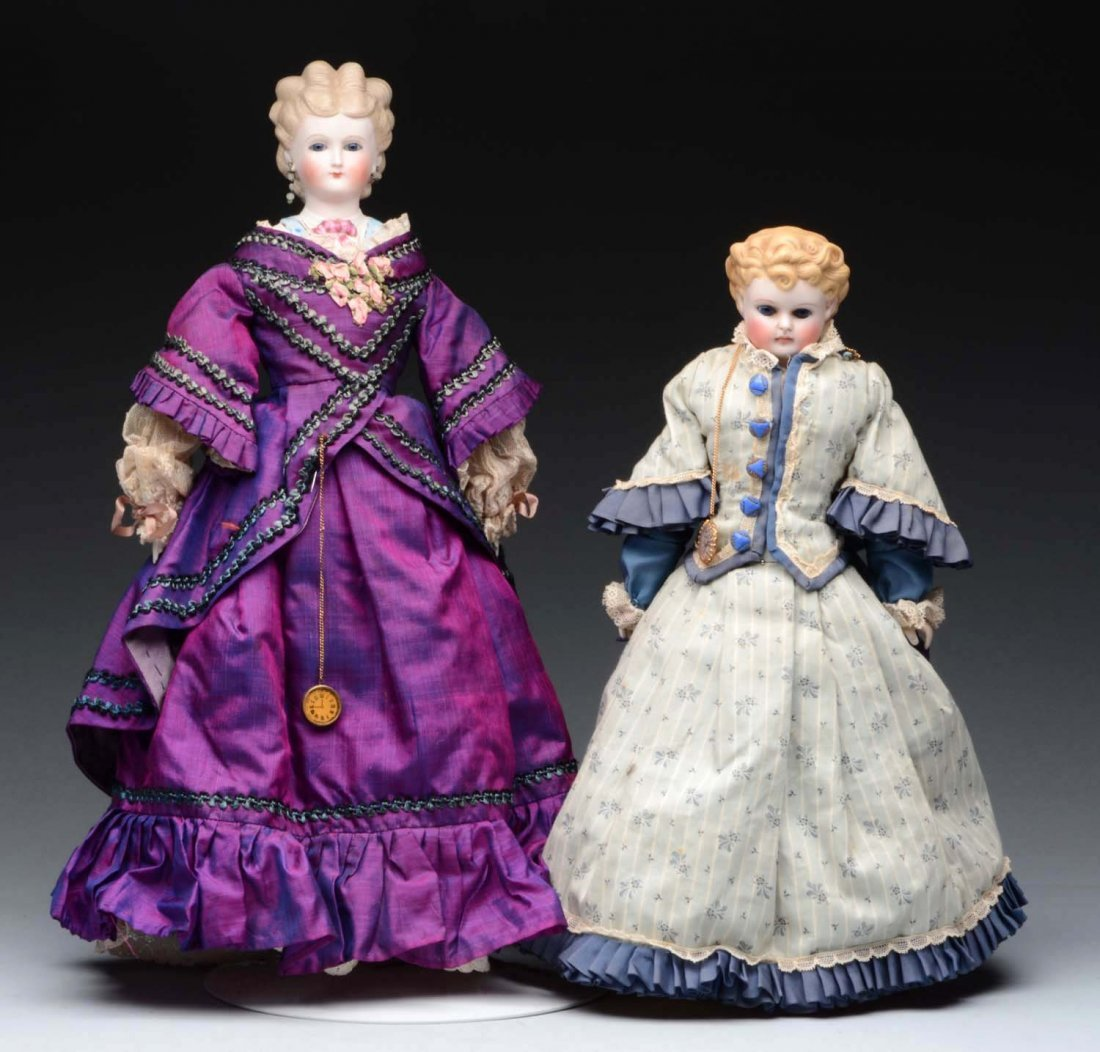 Lot of 2: Lady Dolls.