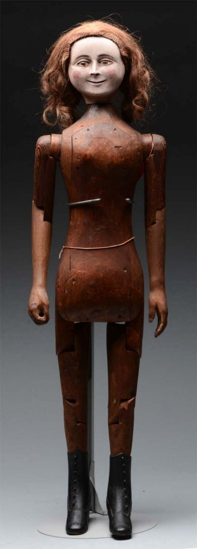 "32"" Wooden ""Smuggling"" Doll."