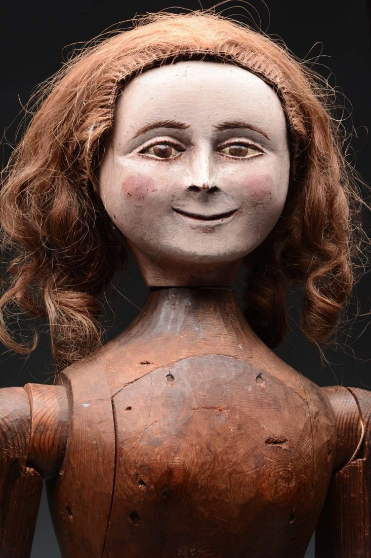 "32"" Wooden ""Smuggling"" Doll. - 2"