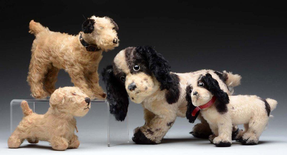 Lot of 4: Stuffed Dog Toys.