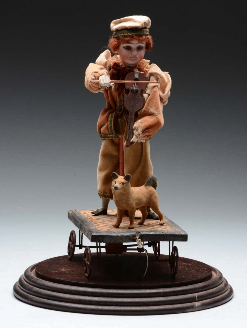 German Wheeled Platform Toy with Musician.