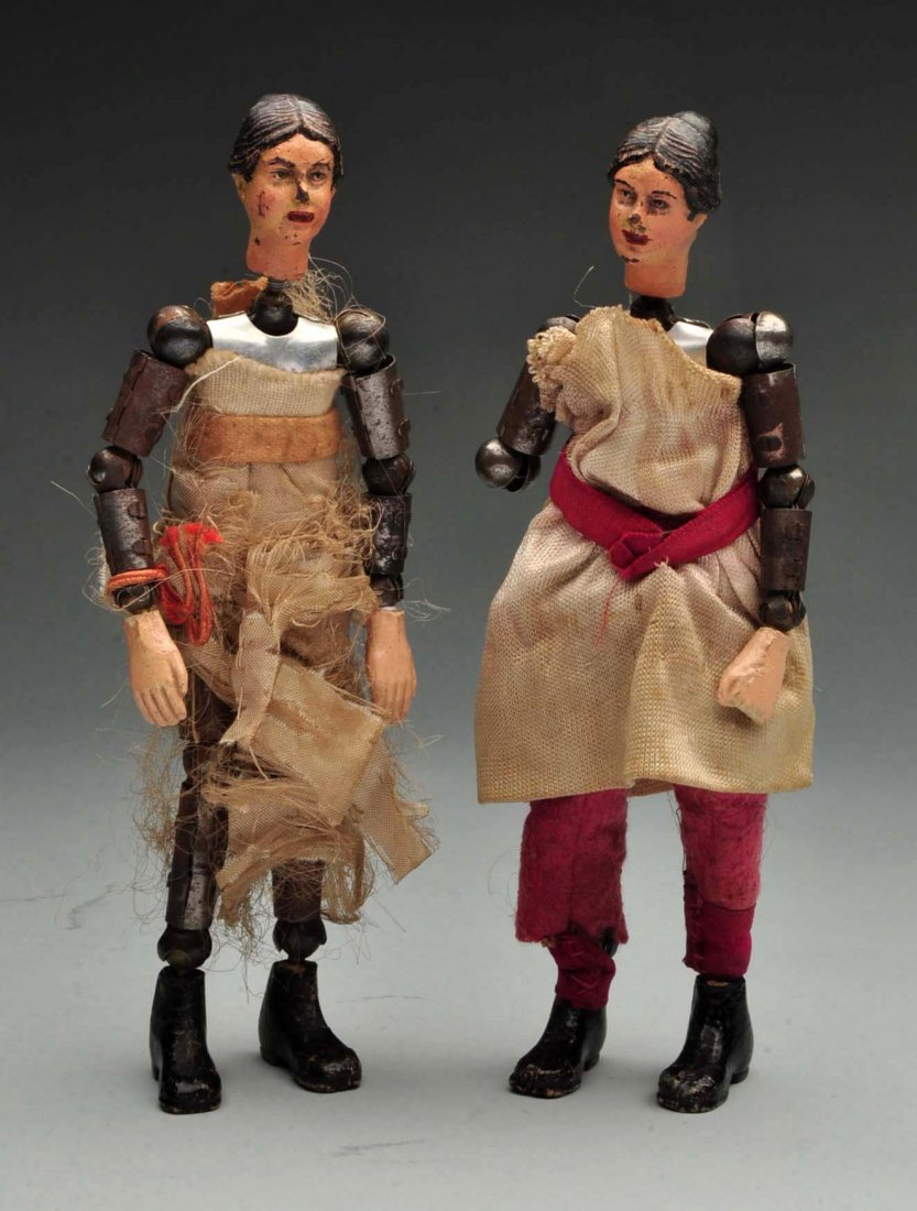 Pair Of Swiss Jointed Figures.