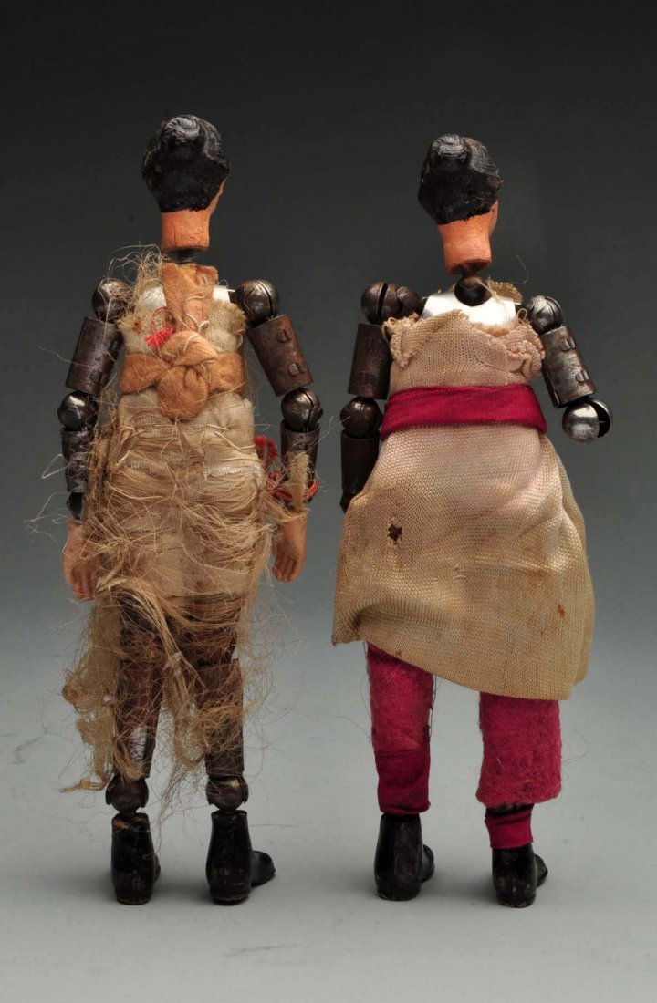 Pair Of Swiss Jointed Figures. - 2
