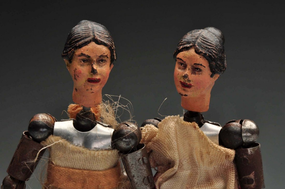 Pair Of Swiss Jointed Figures. - 3