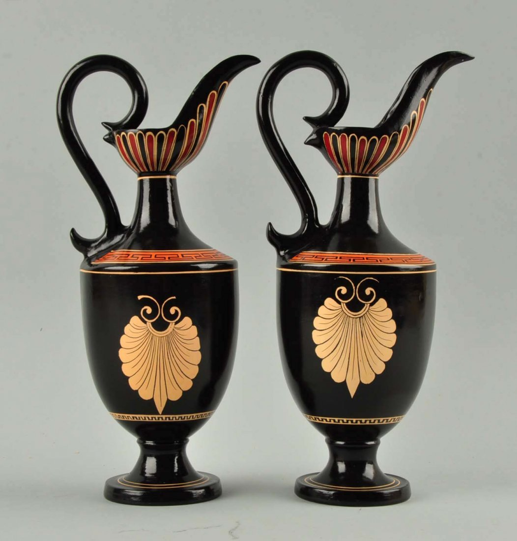 Lot Of 2: Greek Glass Ewers. - 2