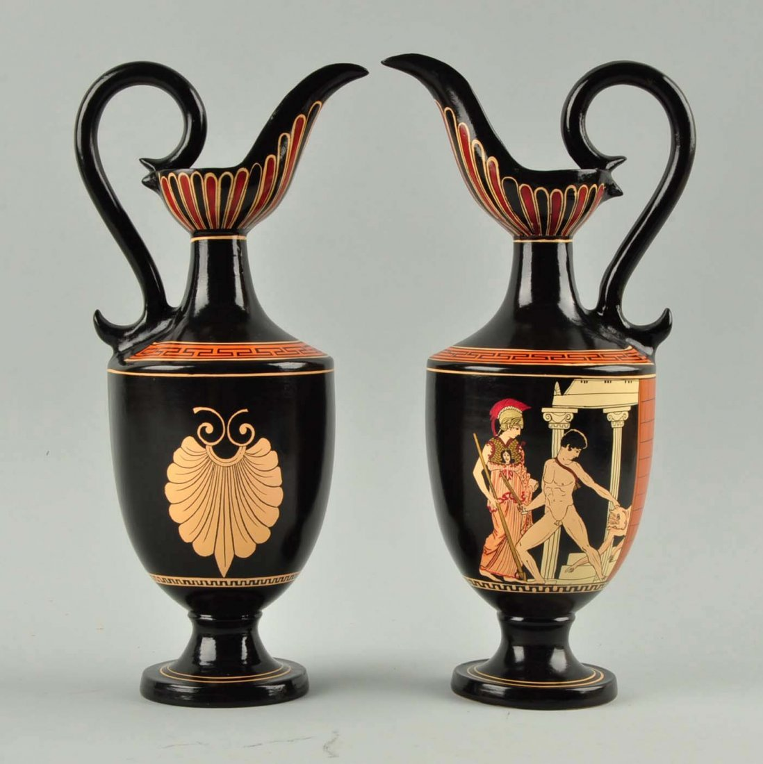 Lot Of 2: Greek Glass Ewers. - 3