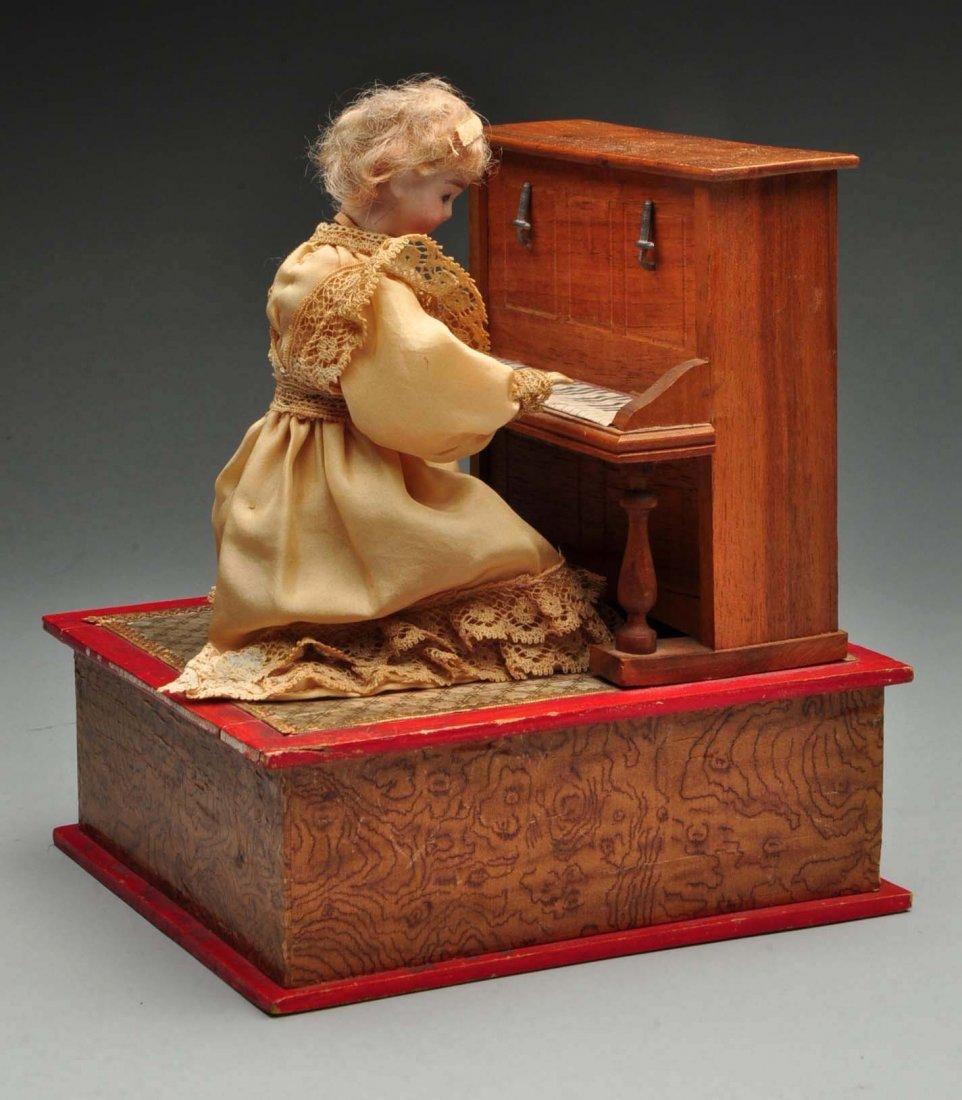 Beautiful French Doll Playing Piano Automaton.