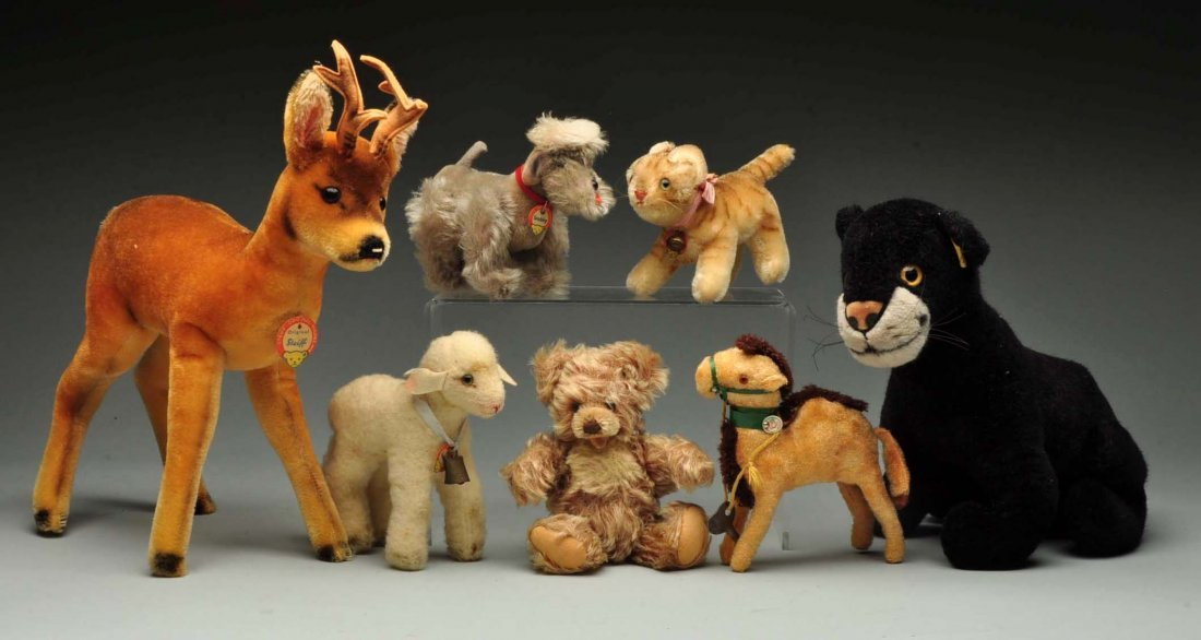 Group of Steiff 1950-1980-era Bears and Animals.