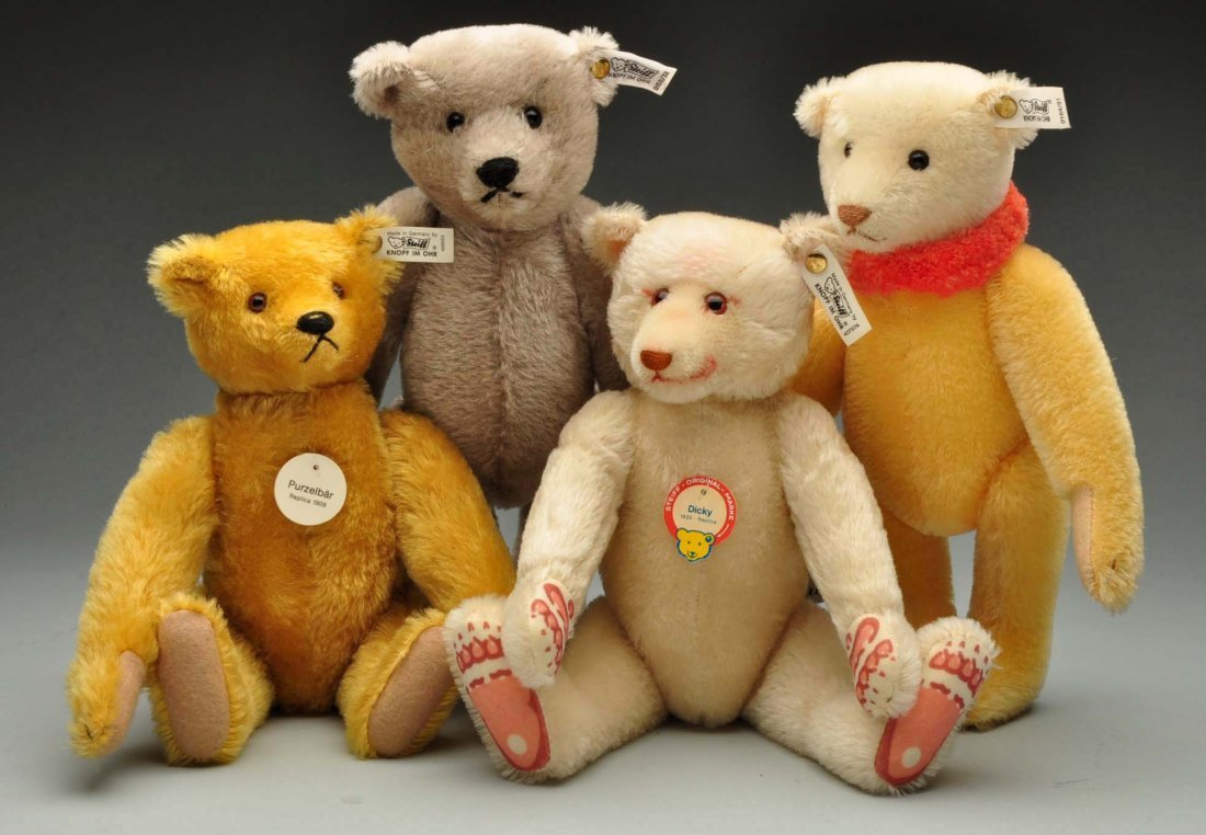 Lot Of 4: Mohair Limited Edition Steiff Replicas.