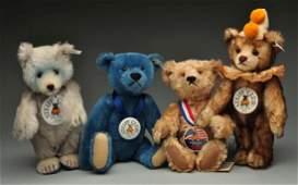 Lot Of 4: Early 1990's Steiff Club Bears.