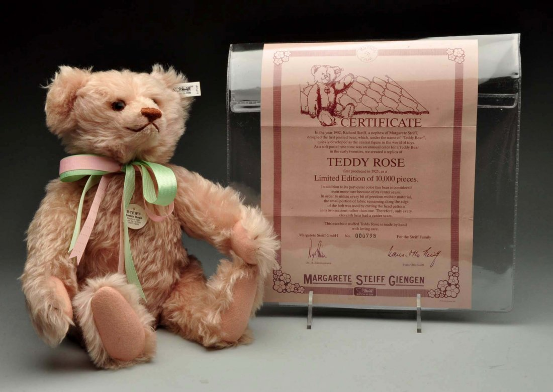 Lot Of 3: Steiff Pink Limited Edition Teddy Bears. - 4