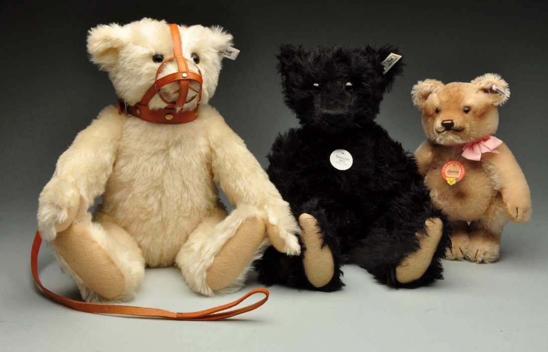Lot Of 3: Steiff Legacy Replica Teddy Bears.