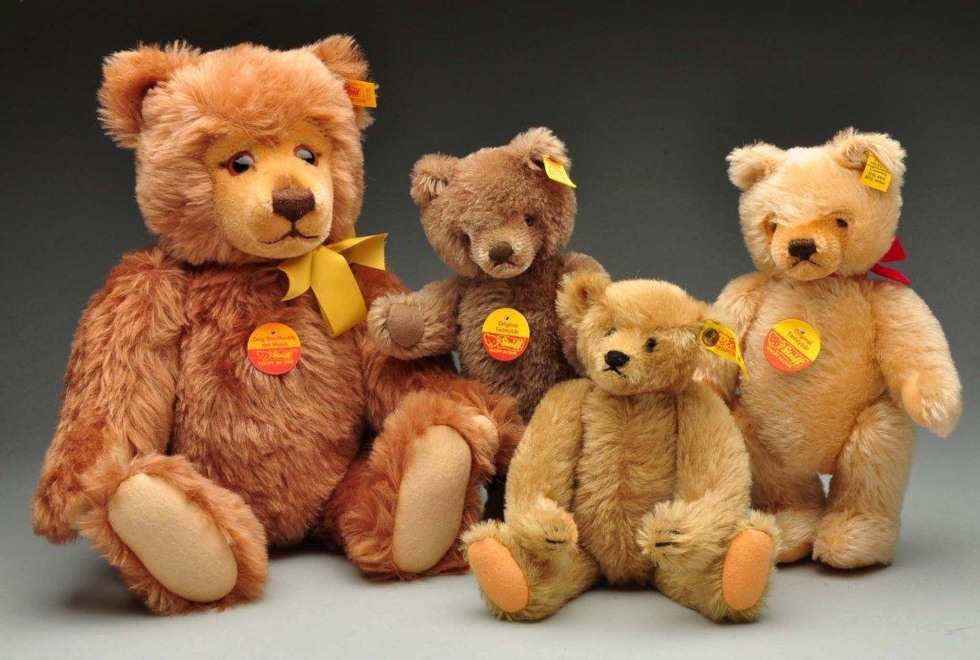 Lot Of 4: Traditional Style Steiff Teddy Bears.