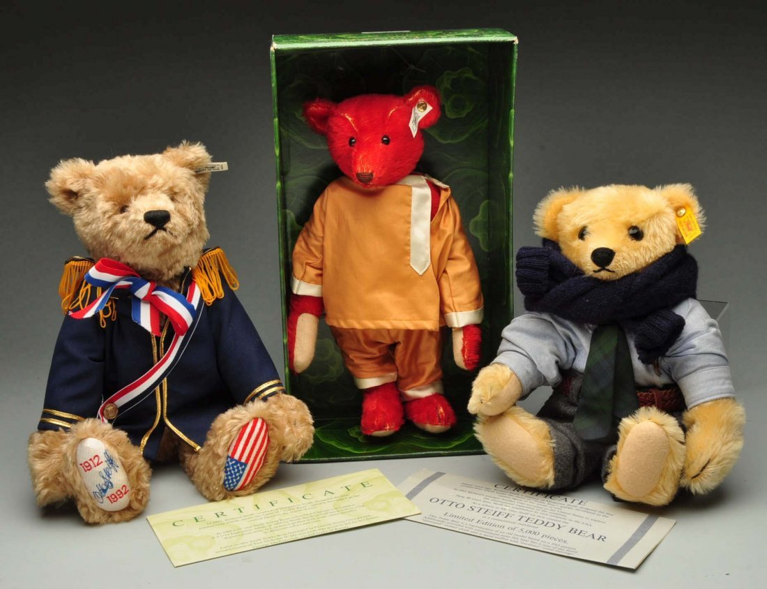 Lot Of 3: Steiff Limited Edition Bears.