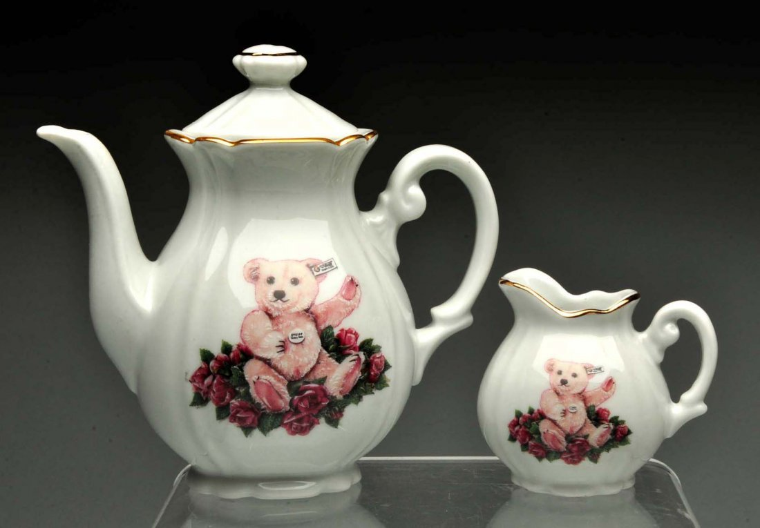 "Lot Of 2:Boxes Sets Of Steiff ""Tea Themed"" Bears. - 6"