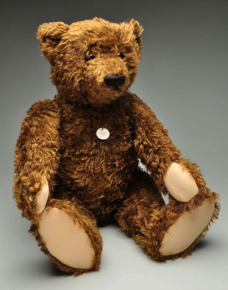 Large Steiff Brown Mohair Bear With All IDs.