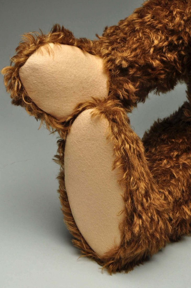 Large Steiff Brown Mohair Bear With All IDs. - 5