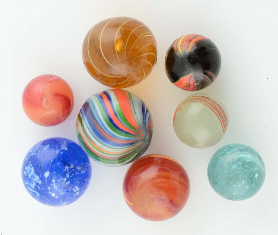 Lot Of 8: Handmade Marbles.