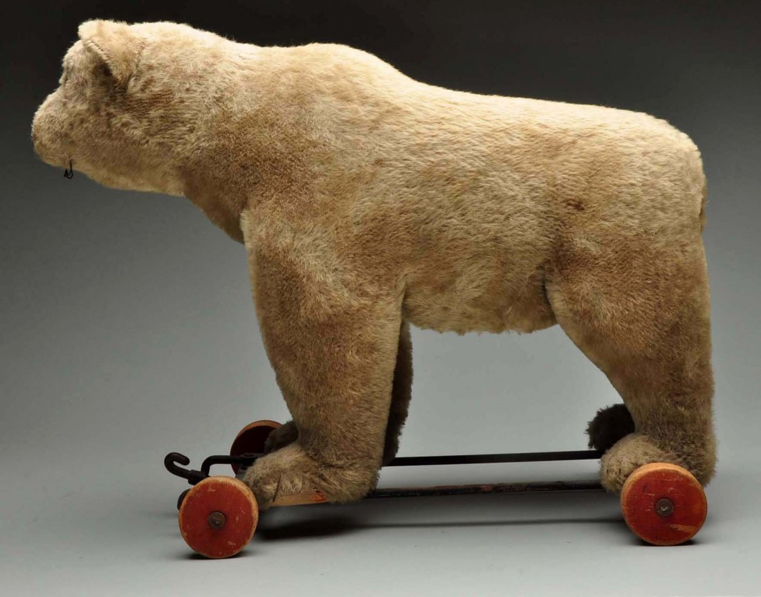 Large Steiff Bear On Wheels. - 5