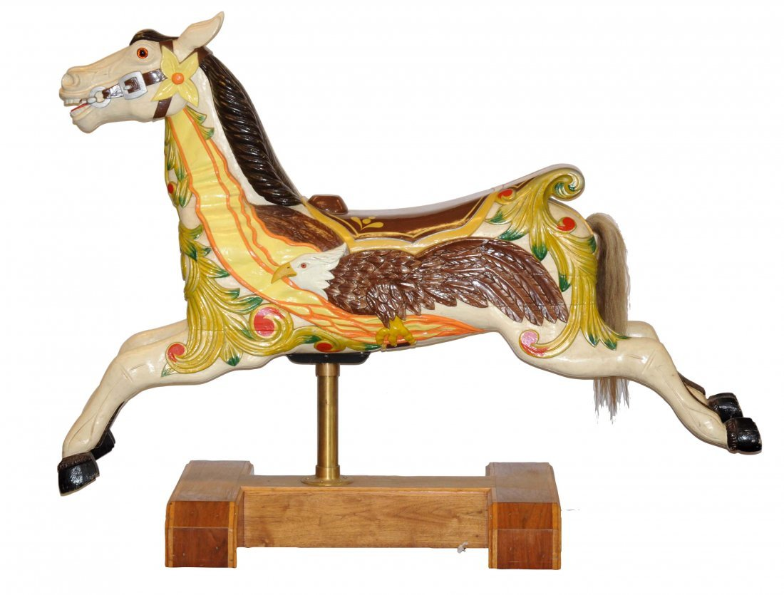 Vintage Wooden Carousel Horse.