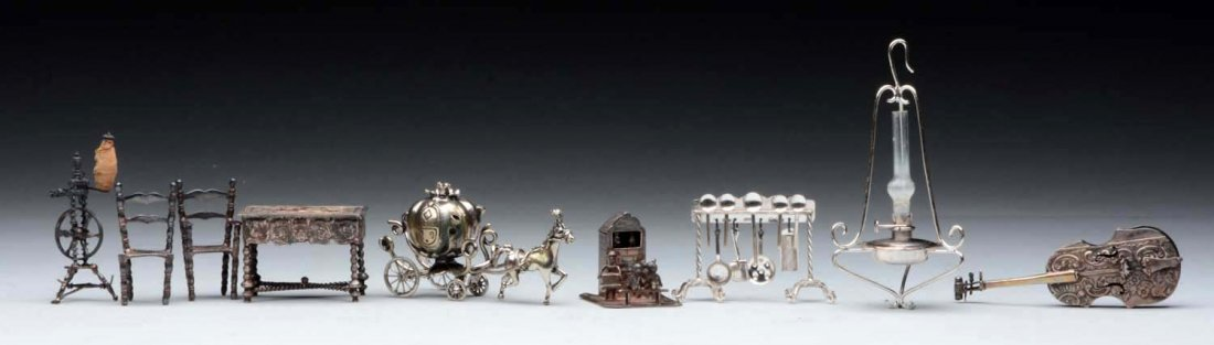 Lot of Silver & White Metal Accessories.