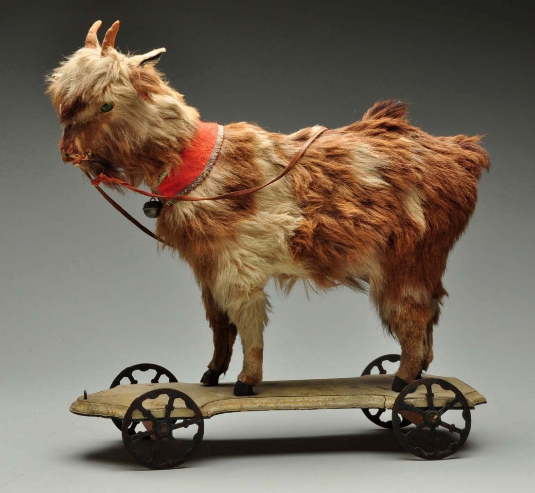 Vintage Goat Pull Toy.