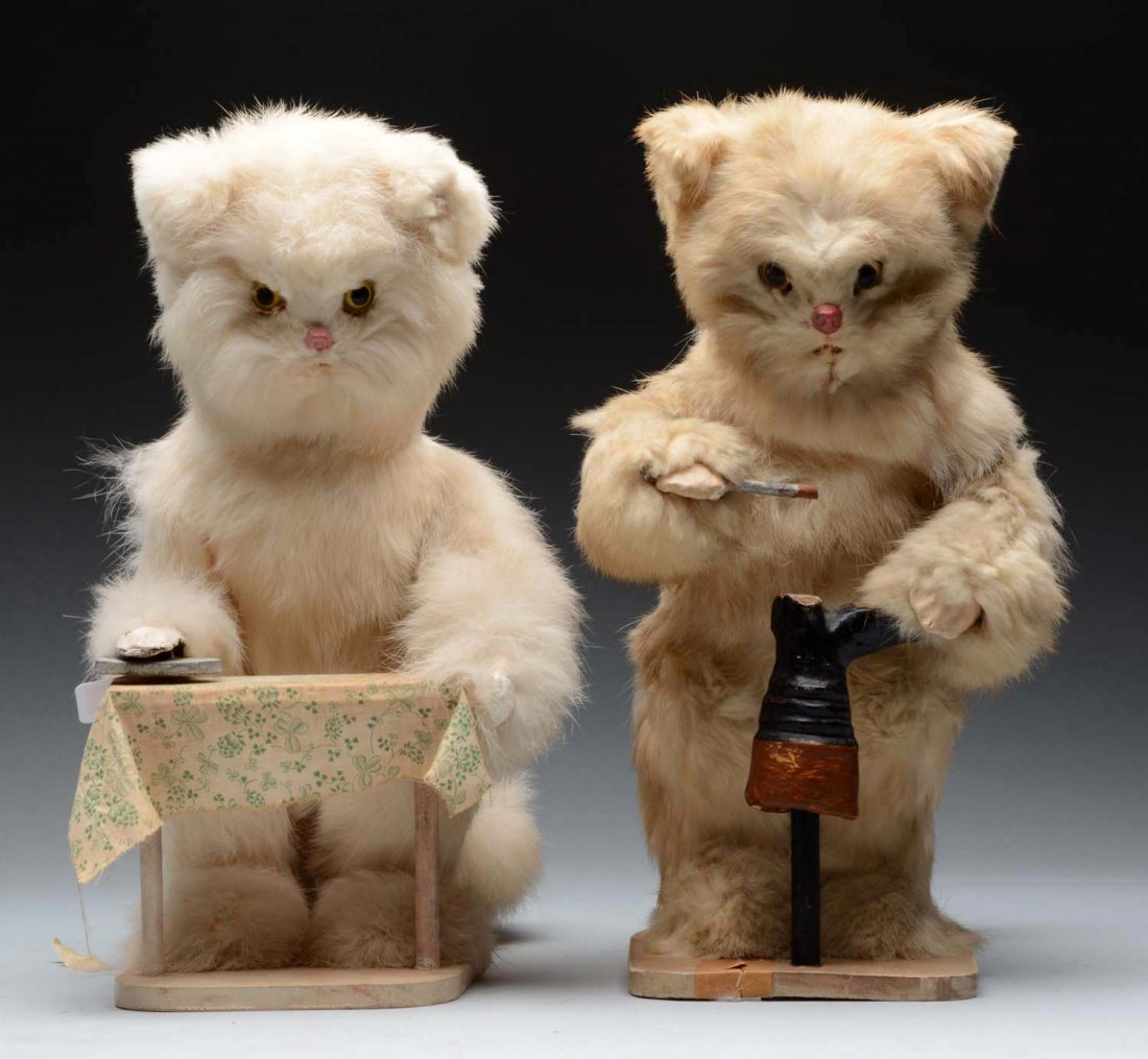 Pair of Roullet & Decamp Mechanical Cats.