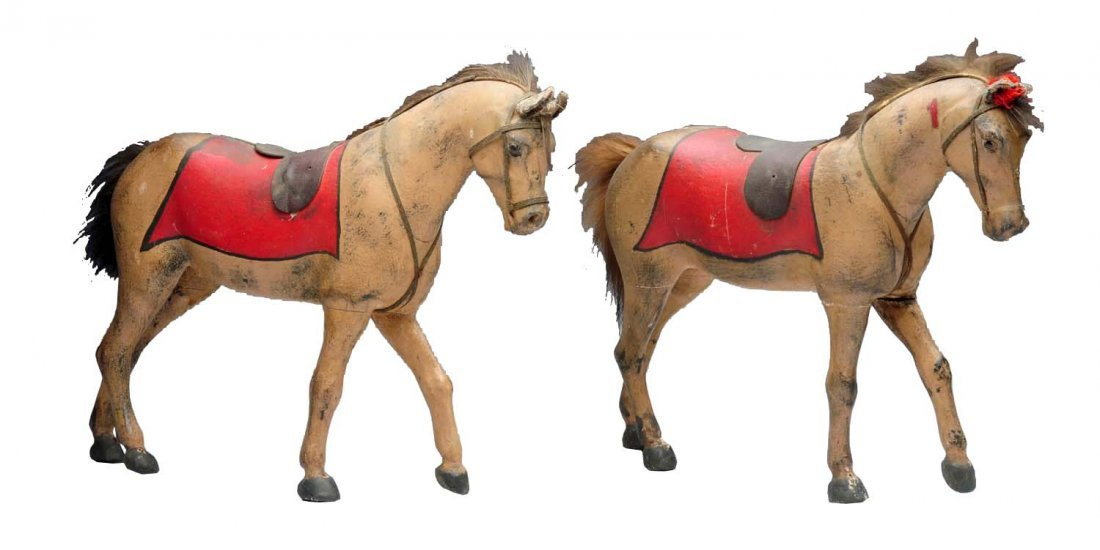 Pair of Wooden Horses.