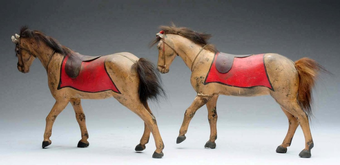 Pair of Wooden Horses. - 2