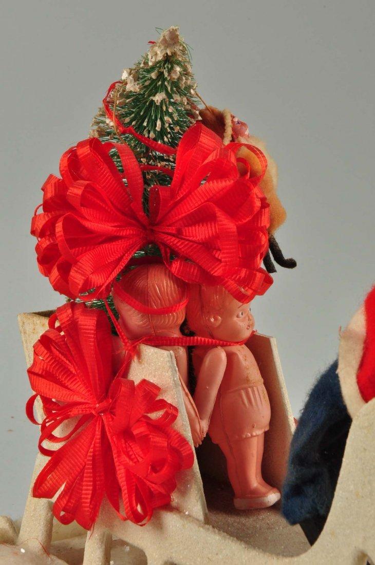 Lg Vintage Japanese Santa in Sleigh with Reindeer. - 6