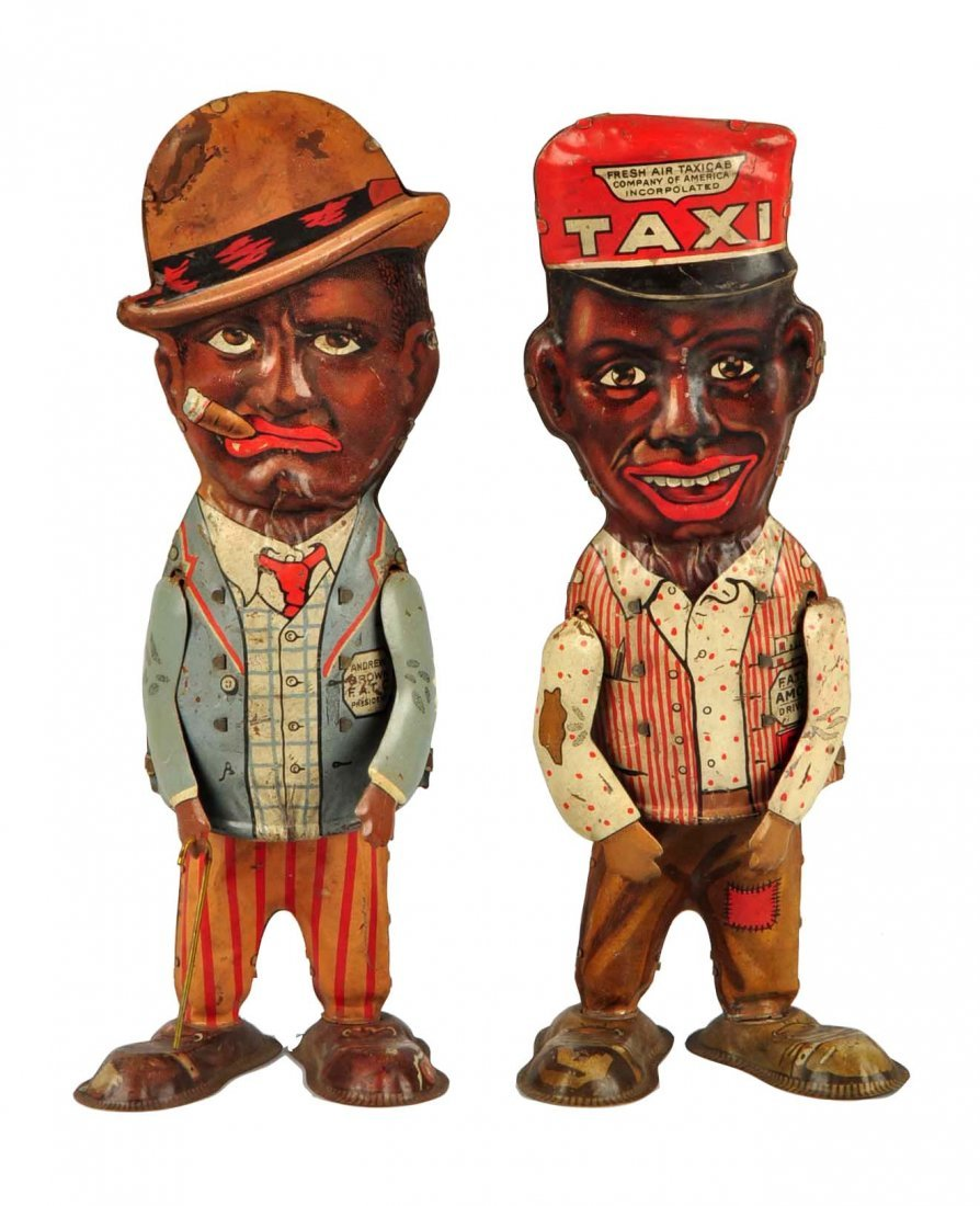Lot Of 2: Marx Amos N Andy Tin Litho Wind-Up Toys.