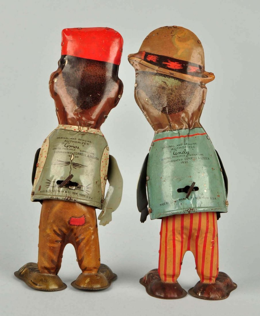 Lot Of 2: Marx Amos N Andy Tin Litho Wind-Up Toys. - 2