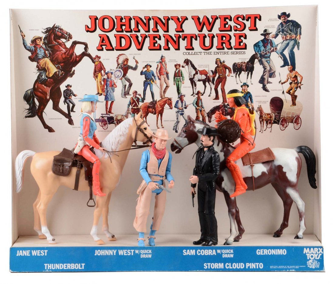 Rare Marx Johnny West Store Display.