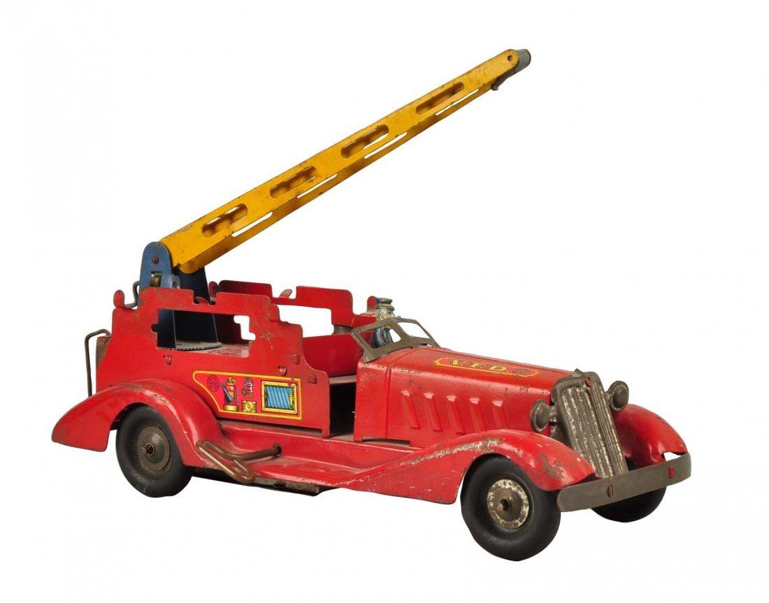 Marx Wind Up Pre War Water Tower Truck.