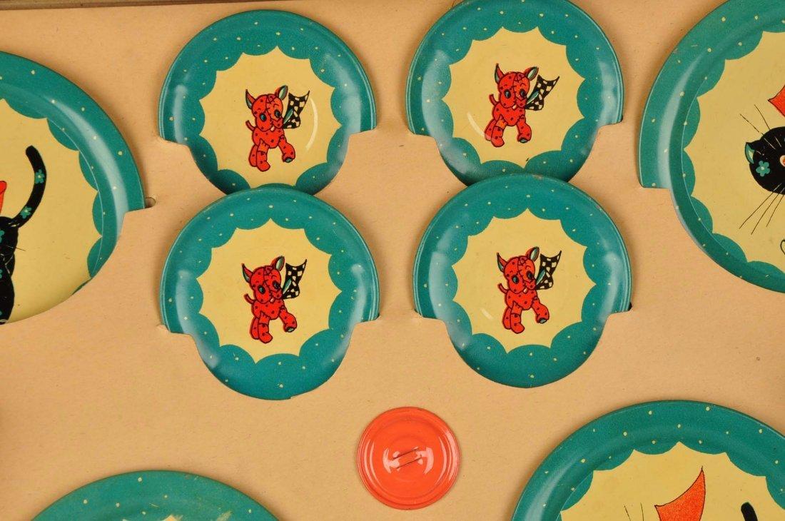 Ohio Art Tin Litho Children's Tea Set. - 2