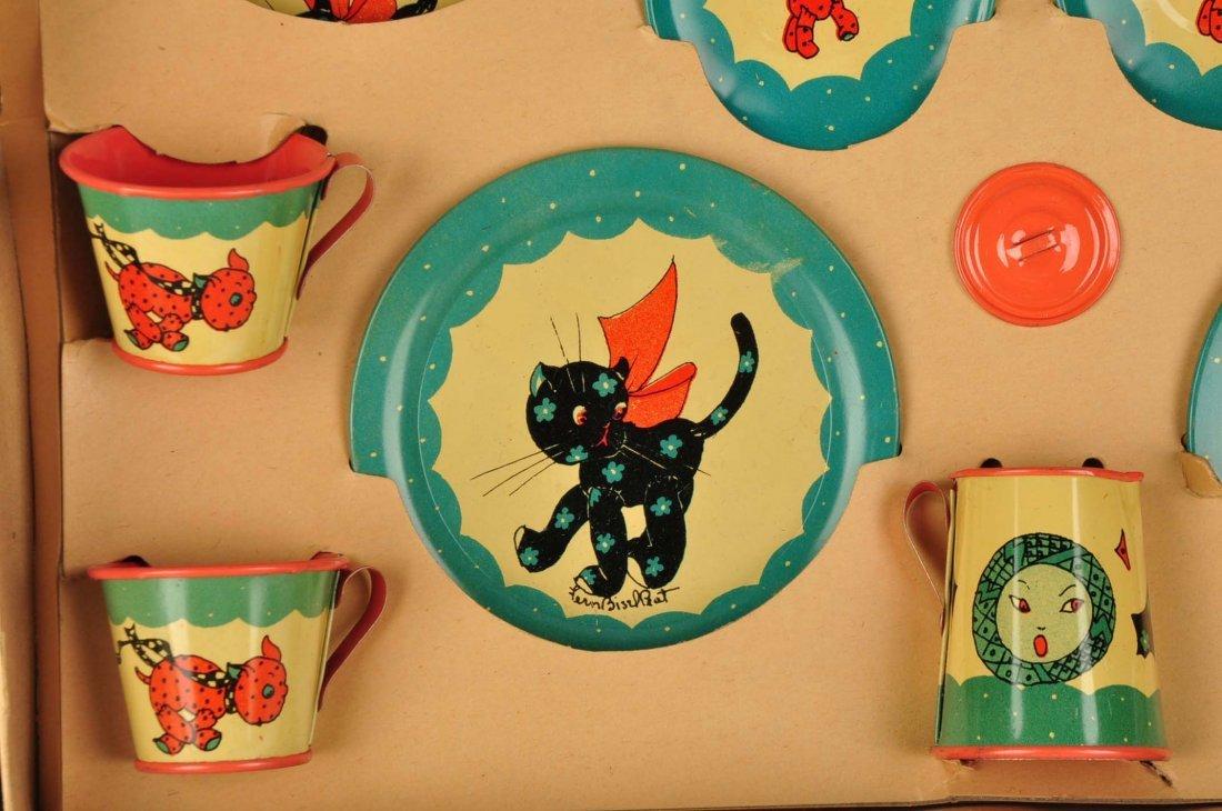 Ohio Art Tin Litho Children's Tea Set. - 3