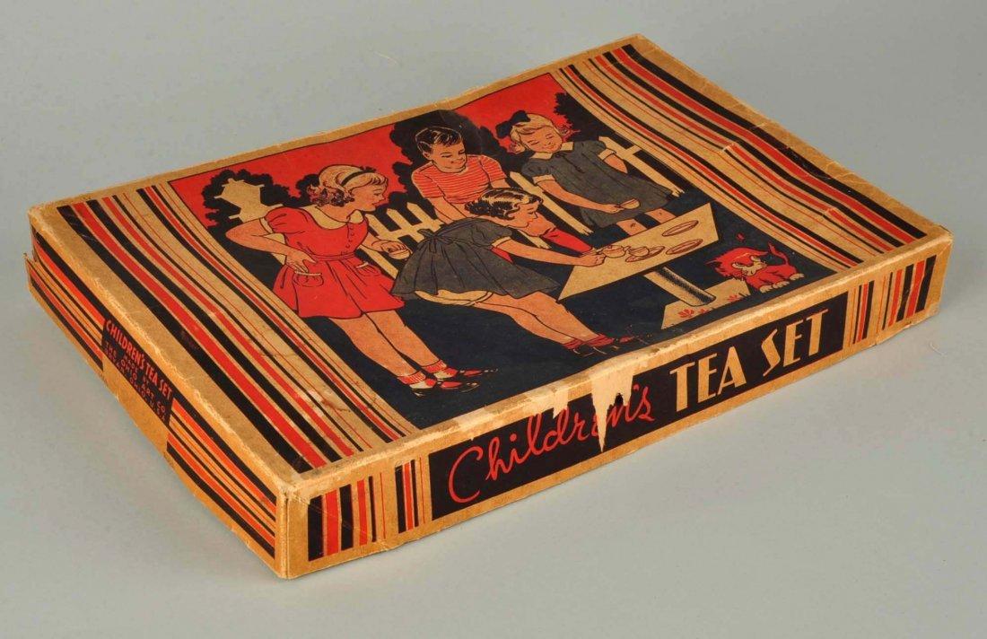 Ohio Art Tin Litho Children's Tea Set. - 5