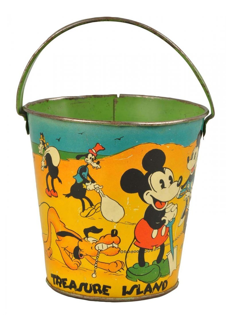 Ohio Art Disney Mickey & Minnie Sand Pail.