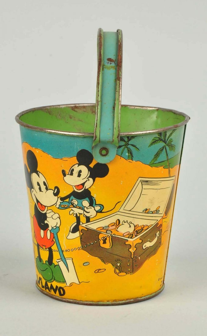 Ohio Art Disney Mickey & Minnie Sand Pail. - 2
