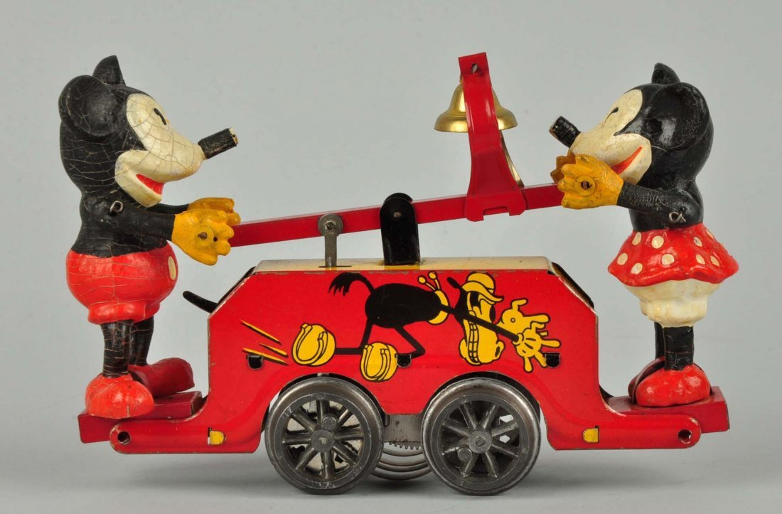 Disney English Mickey & Minnie Mouse Hand Car Toy. - 2