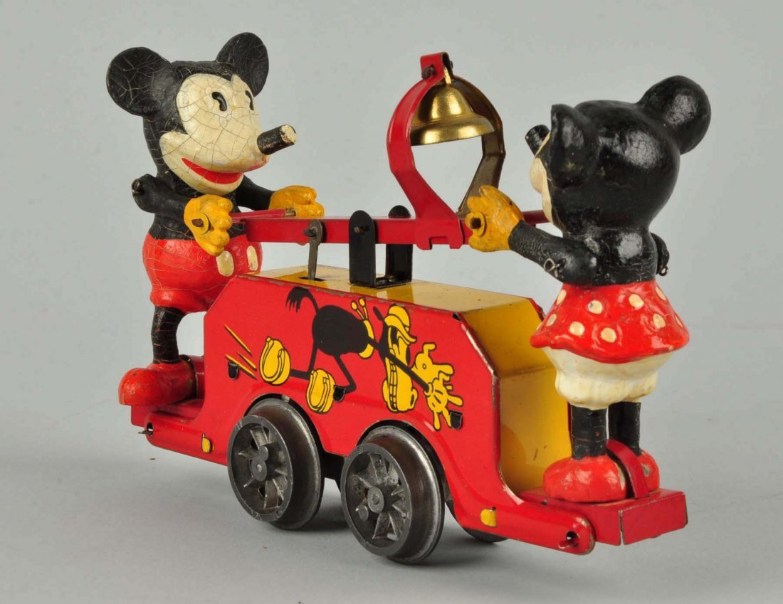 Disney English Mickey & Minnie Mouse Hand Car Toy. - 5