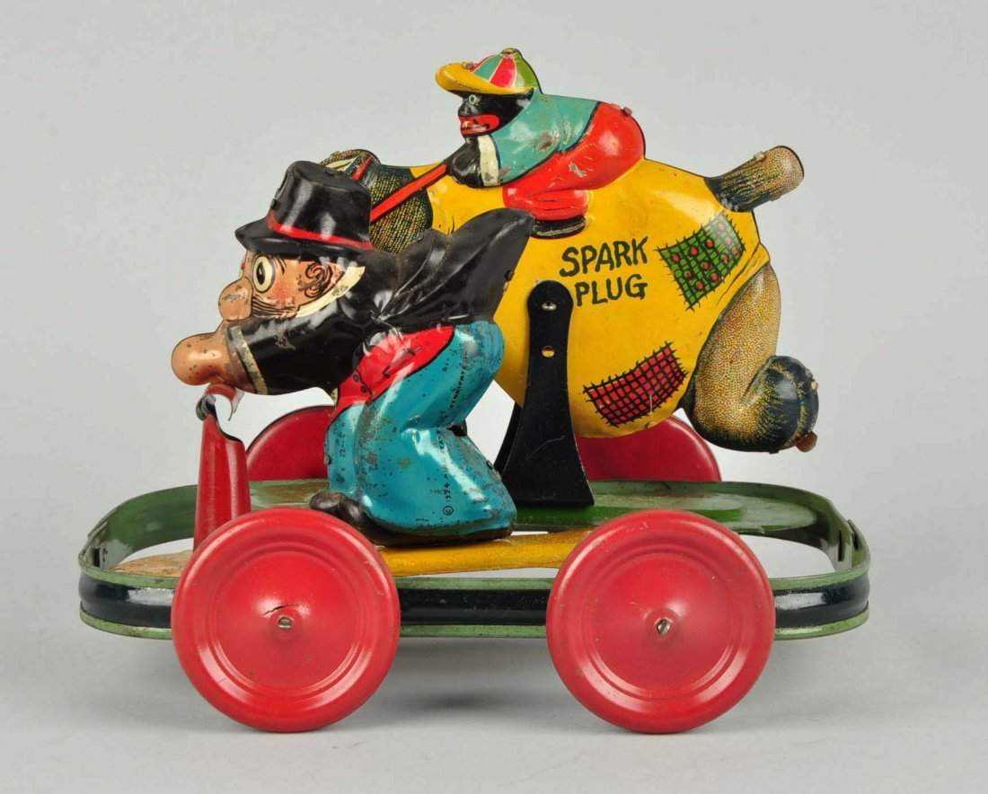 German Nifty Barney Google & Spark Plug Toy. - 4