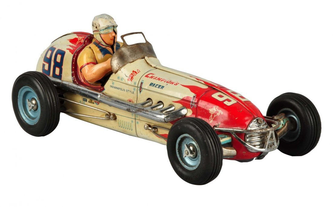 Japanese Tin Litho Friction Champion Race Car.