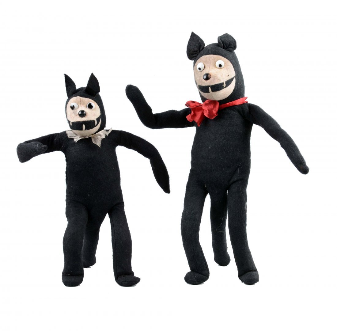 Lot Of 2: English Chad Valley Felix the Cat Dolls.