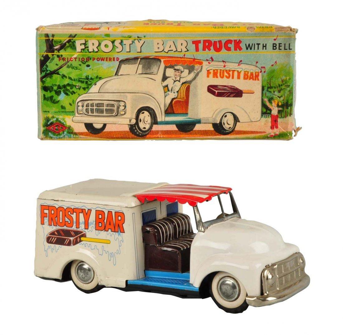 Japanese Tin Litho Friction Ice Cream Truck.